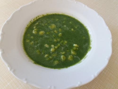 Polévka špenátová sknedlíčky